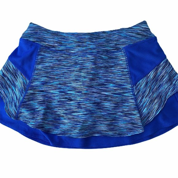 Athleta Pants - Athleta Bustle Skort Blue Space Dye Tennis Skirt